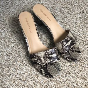 Who What Where snake print sandals
